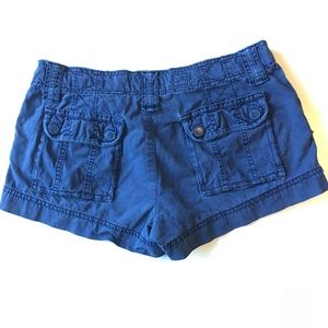 American Eagle Outfitters Blue Short Cargo Shorts